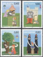 San Marino 2004 Fairy Tales/Red Riding Hood/Puss in Boots/Stories 4v set  n45980