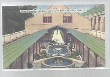OPEN AIR AQUARIUM,KEY WEST FLORIDA LINEN POSTCARD NEW CIRCA 1950'S