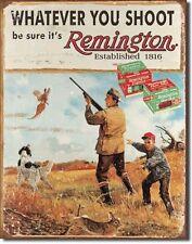 Vintage Replica Tin Metal Sign Remington Cartridges shotgun ammo guns Rifle 1412