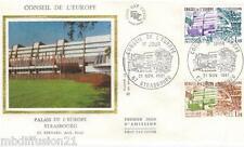 1981**ENVELOPPE SOIE**FDC 1°JOUR!!**CONSEIL DE L'EUROPE**TIMBRE Y/T 65-66