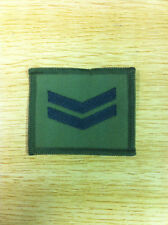 Corporal Rank Patch 65mm x 55mm on olive