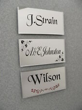 *Professionally engraved beautiful MIRROR-finish door nameplate...UK FREEPOST...