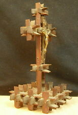 Crucifix XIX ° Work of Marin Popular Art Seaman Work Folk Art Crucifix