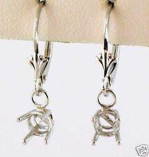 1/2CT TW Dangle Stud Earrings Mount 1/4 Each 14K Solid White Gold
