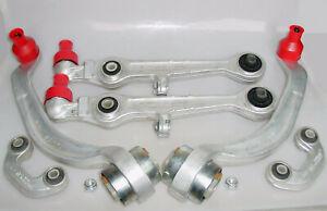 4x Querlenker 2x Koppelstange Aluminium VA Audi A4 A6 A8 VW Passat Skoda Superb