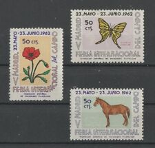 Butterfly Horse Flower mnh Madrid Fair labels 1962 Spain