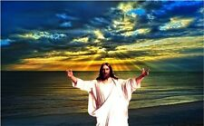 "Jesus Christ Art Silk Fabric Poster 21"" x 13""  J017"