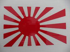 Bandera de Japón del sol naciente Sticker Decal coches divertidos pegatinas van parachoques etiqueta 5344 Rojo