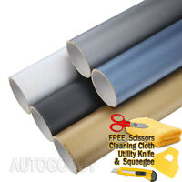 Brushed Aluminum Vinyl Film Metallic Wrap Sticker Decal Bubble Free Air Release