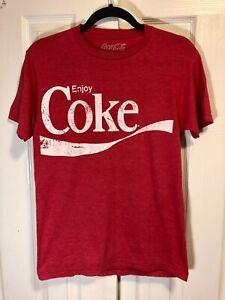 Vintage Enjoy Coke Men's T-shirt Distressed Coca Cola Pop Art Soda Tee S Small