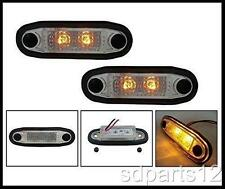 2 X 24V SMD 2 LED ORANGE FEUX DE GABARIT CAMION BAR PARE BUFFLE MARCHE PIEDS