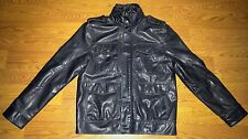 Mens Levi's Brown Faux Leather Motorcycle Style Jacket Size Medium