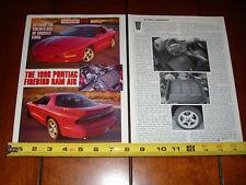 1996 PONTIAC FIREBIRD RAM AIR - ORIGINAL 1996 ARTICLE