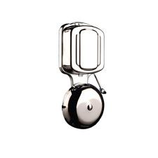 Chrome porta Gong Striker Bell cablata parete Strike Campanello retrò vintage