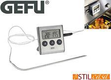 Gefu Termometro Digitale con Timer Integrato Ideale per Arrosti da 0° a + 250°