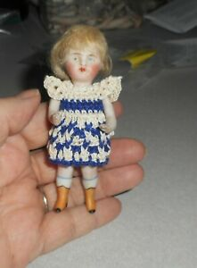 Antique Detailed Strung Bisque Doll - Beautiful Boots - Marked - Germany