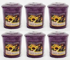 6 Yankee Candle SEASON'S BLESSINGS Wax Votive Mini Candle approx 15 hrs ea