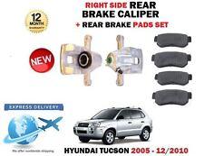 Per Hyundai Tucson 2.0 Crdi 2.7 2.0i 2005-2010 Posteriore Dx Pinza Freno + Pads