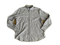 Jeff Banks London Mens Big And Tall Size XL Button Up Long Sleeves Shirt