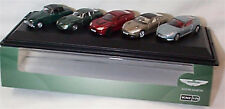 Aston Martin 5 piece Set 1-76 scale New in Case 76set43 DB2 DB9 Zagato Vantage
