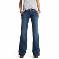Ariat Womens Jeans Trouser Hazel Mid Rise Wide Leg Stretch - Brand New 10019540