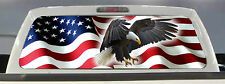 AMERICAN FLAG EAGLE PICK-UP TRUCK REAR WINDOW GRAPHIC DECAL PERFORATED VINYL ...