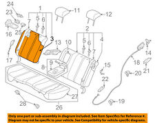 MAZDA OEM 10-12 CX-7 Rear Seat-Seat Cover-Top Back Right EH448840102