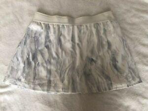 Nike Printed Tennis Skirt Skort White Bluish Grey S Small