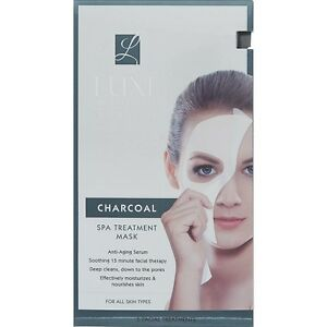 Luxe Beauty Care Charcoal Spa Treatment 15min Anti Aging serum Masks x 5