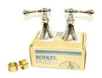 Kohler Faucet Lever Handles Revival Valve Trim Chrome Finish Bathroom Tub Sink