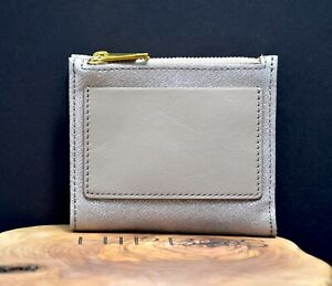 Fossil Womens Shelby Mini Clutch Leather Wallet Purse Champagne