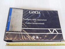 CATALOGO LANCIA '88 TARIFFE RIPARAZ.COD. INCONVENIENTI ANCHE DELTA INTEGRALE 8V