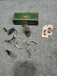 Vintage Singer Sewing Machine Attachments 160623-301 11 Items in Original Box