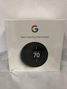 Google Nest Learning Thermostat 3rd Gen Smart Thermostat (Black) T3016US