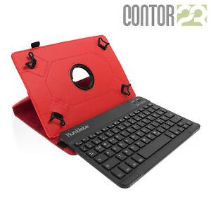 """Schutzhülle + Bluetooth-Tastatur in ROT für 9.7"""" Samsung Galaxy Tab S2"""