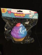 Soft'n Slo Squishies Jumbo Purple & Blue Cupcake w/ Heart-Ultra Soft Slow Rising