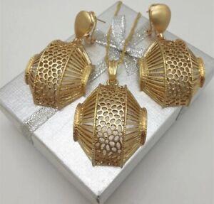 Dollar Dubai Gold Costume Fashion African Necklace Earrings Pendant Jewelry Set
