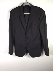 Hugo Boss Men's Black Wool Suit Jacket Size 38 Good Condition