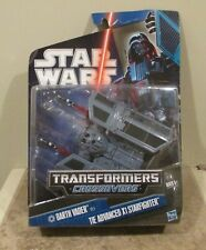 Star Wars Transformers Crossovers Darth Vader To Tie Advanced X1 Starfighter