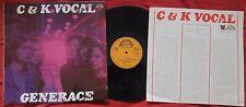 C&K VOCAL - Generace ORIG CZECH PROG LP 1977 NM