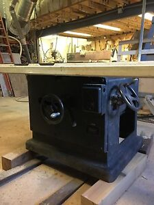 """OLiver 18"""" industrial table saw, 230 three phase, cabinetmakers quick adjustment"""