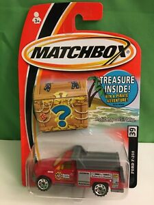 Ford F-250 Red Matchbox Treasure Hunt, Ford Dump Utility Truck #39, New