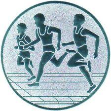 100 Embleme D:50mm Leichtathletik Laufen #1 (Sport Emblem für Medaillen Pokale)