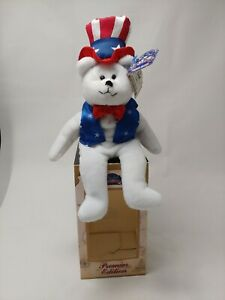 LIMITED TREASURES Sam All American Bear Hometown Heroes Collection 4thJuly Plush