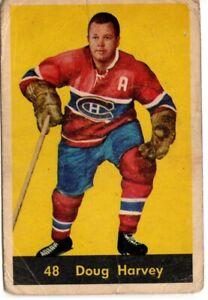1960-61 PARKHURST #48 DOUG HARVEY MONTREAL CANADIENS LOW GRADE (FILLER)