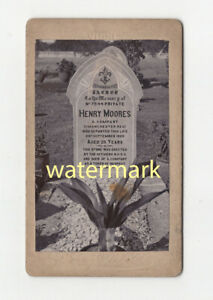 Grave of Manchester Regiment soldier, 1905, CDV