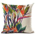 Tropical plants Cotton Linen Throw Pillow Case Car Sofa Home Decor Cushion Cover