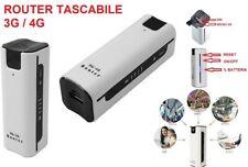 WIRELESS MODEM WIFI ROUTER 3G 4G PORTATILE CON BATTERIA SUPPORTA SIM WCDMA UMTS
