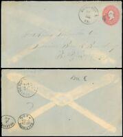 1899 KILMARNOCK VA CDS, Cover to Hoskins Lumber Co, Balto, SC #U370 SCV $15.00!