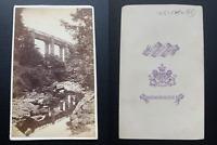 Angleterre, vue de Plymouth Vintage albumen carte de visite, CDV.  Tirage al